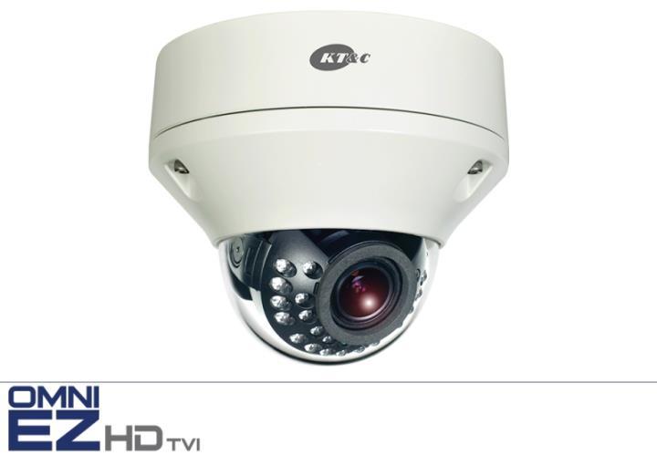 KEZ-C2DR28V12IRN KT&C 2.1MP HD-TVI IR Vandal Proof Dome, f2.8-12mm, IP68, AC/DC Dual Voltage, UTC