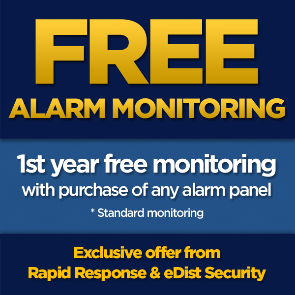 RAPIDCOUPON 1 YEAR FREE MONITORING COUPON WITH RAPID RESPONSE