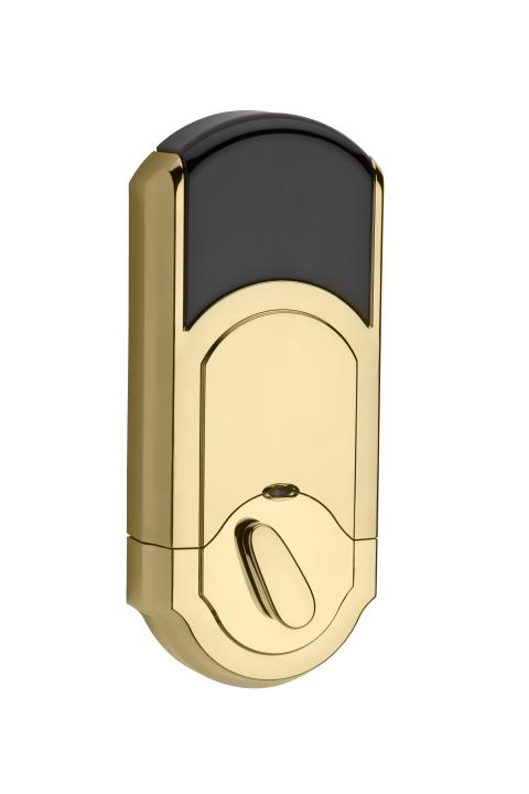 99100-061 KWIKSET SIGNATURE SERIES HOME CONNECT DEADBOLT POLISHED BRASS ************************* SPECIAL ORDER ITEM NO RETURNS OR SUBJECT TO RESTOCK FEE *************************