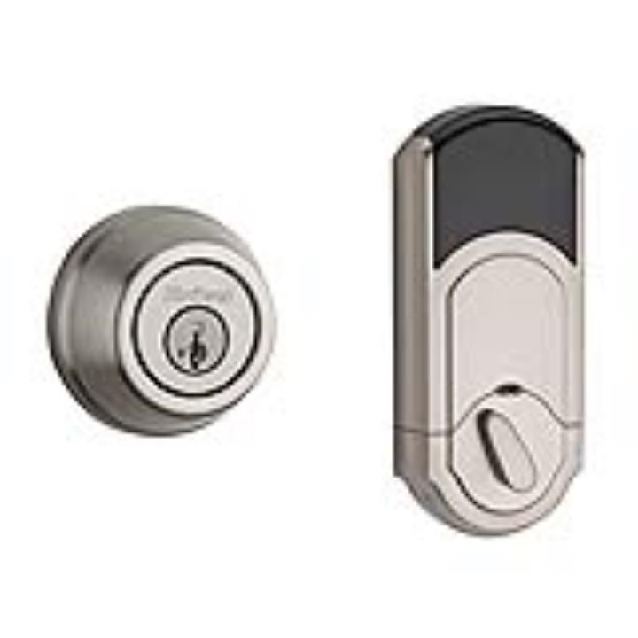 99100-062 KWIKSET SIGNATURE SERIES HOME CONNECT DEADBOLT SATIN NICKEL ************************* CLEARANCE ITEM - NO RETURNS *****ALL SALES FINAL***** *************************