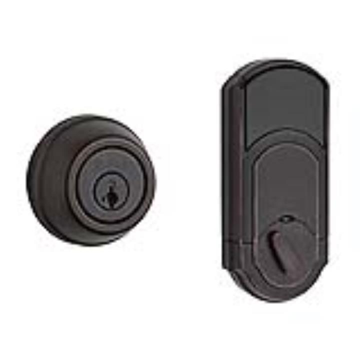 99100-063 KWIKSET SIGNATURE SERIES HOME CONNECT DEADBOLT VENETIAN BRONZE ************************* SPECIAL ORDER ITEM NO RETURNS OR SUBJECT TO RESTOCK FEE *************************