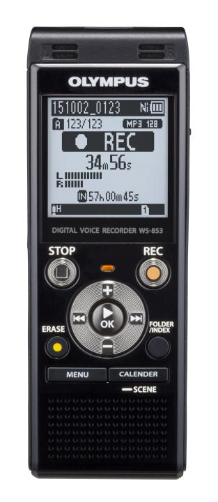 OLY-V415131BU000 OLYMPUS WS853 DIGI TAL VOICE RECORDER BLK, 8GB, 2080 HOURS RECORDING, STEREO, MP3, MICRO SD SLOT, DIRECT USB CONNECTOR,2 AAA BATTERIES INCLUDED