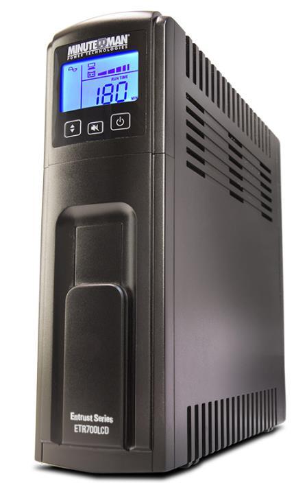 ETR700LCD MINUTE ENTRUST 700VA/420W 120 VAC LINE INTERACTIVE UPS