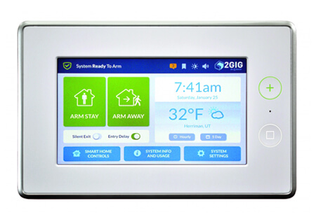 "2GIG-GC3-345 2GIG SECURITY & HOME CONTROL PLATFORM. 7"" TOUCHSCREEN, 100 WIRELESS ZONES, 2 WIRED ZONES AND 100 USERS. INTEGRATED CELLSLED. WILL SUPPORT 32 KEYFOBS, 232 ZWAVE DEVICES AND 4 ADDITIONAL REMOTE KEYPADS."