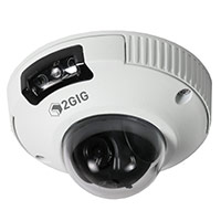 2GIG-CAM-250P 2GIG 2GIG Outdoor Mini-Dome Camera, 2MP, Ethernet, PoE, White