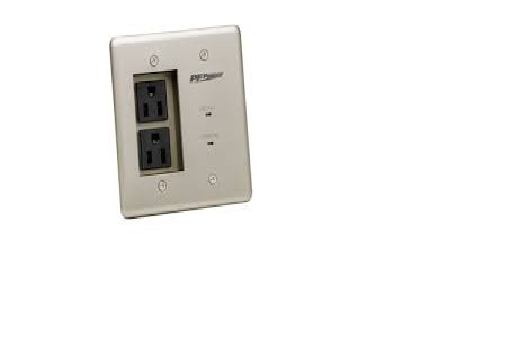 PMX-MIW-POWER-PRO-PFP PANAMAX POWER OUTLET FACEPLATE DUAL OUTLET SURGE SUPPRESSOR ************************** CLEARANCE ITEM- NO RETURNS *****ALL SALES FINAL******* **************************