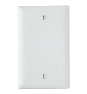 TP13W ON-Q BLANK DECORATOR WALL PLATE WHITE