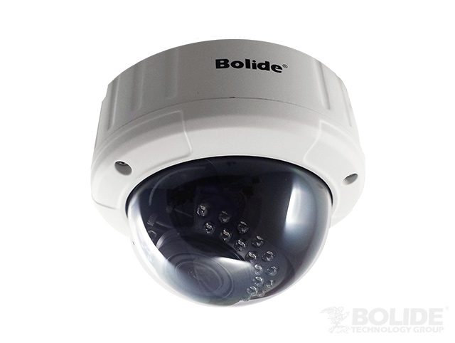 "BC1209AVAIR/AH BOLIDE 1/3""CMOS 2.0MP/1080P, 5*30pcs LED,Upto 82ft IR, 2.8-12mm lens, 4.5"" Metal Dome, Beige powder coating without black ring, OSD menu controllered by cable button"