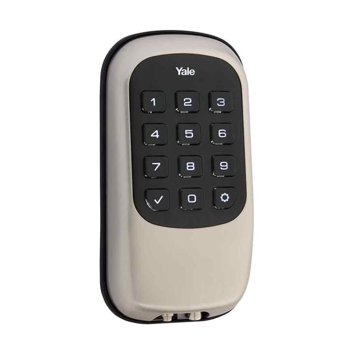 YRD110ZW619 Yale 84384 Push Button Z-Wave-Key Free Deadbolt Satin Nickel