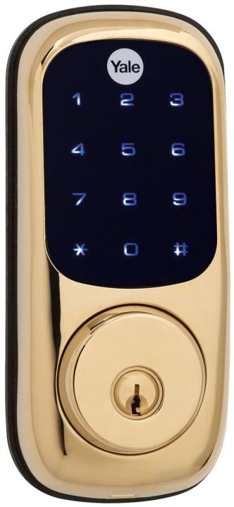 YRD220ZW605 Yale 84017 Touchscreen Z-Wave-Deadbolt Bright Brass-PVD