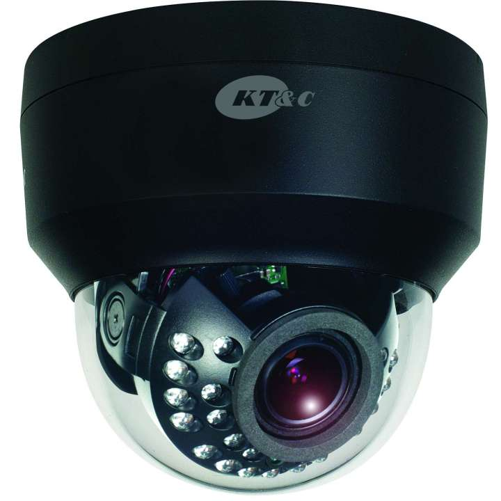KEZ-C2DI28V12IRNB KT&C 2.1MP HD-TVI IR Indoor Dome, f2.8~12mm, AC/DC Dual Voltage, UTC BLACK ************************* SPECIAL ORDER ITEM NO RETURNS OR SUBJECT TO RESTOCK FEE *************************