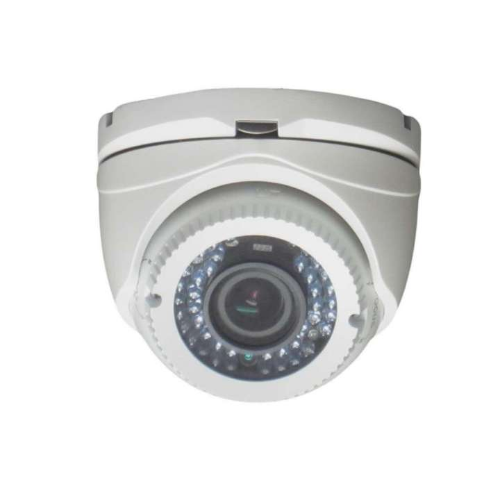 "AV50HTW-2812 FOCAL POINT HD-TVI 1080p,1/2.7"" CMOS, 42 pcs IR LEDs, 40m IR, Outdoor IR Vari-focal Turret, ICR, 0.1 Lux/F1.2, 12 VDC, Smart IR, DNR, OSD Menu(Up the Coax), IP66, 2.8~12mm Lens, DC12V. White Color ************************** CLEARANCE ITEM- NO RETURNS *****ALL SALES FINAL******* **************************"