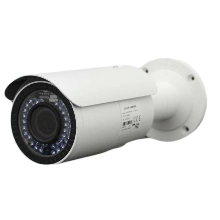 "AV16HTWA-2812 FOCAL POINT HD-TVI 1080p,1/2.7"" CMOS, 42 pcs IR LEDs, 40m IR, Outdoor IR Vari-focal Bullet, ICR, 0.1 Lux/F1.2, 12 VDC, Smart IR, DNR, OSD Menu(Up the Coax), DWDR, IP66, 2.8~12mm Lens, DC12V/AC24V. Junction box included."