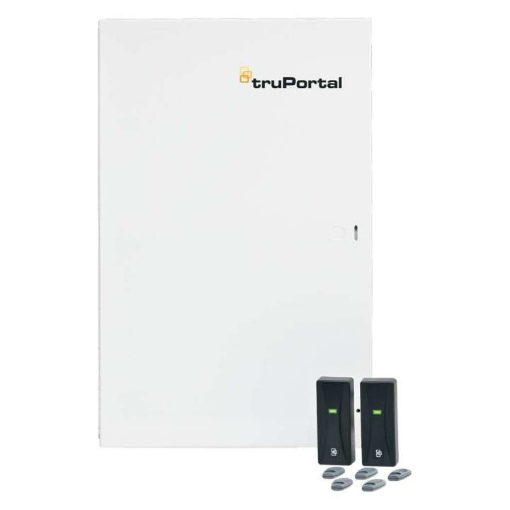 TP-SYS-2D2R UTC TruPortal 2-Door Base system with readers. Consists of a TP-SYS-2D bundeled w/ (2) T-100 readers and (5) HID Prox keyfobs.