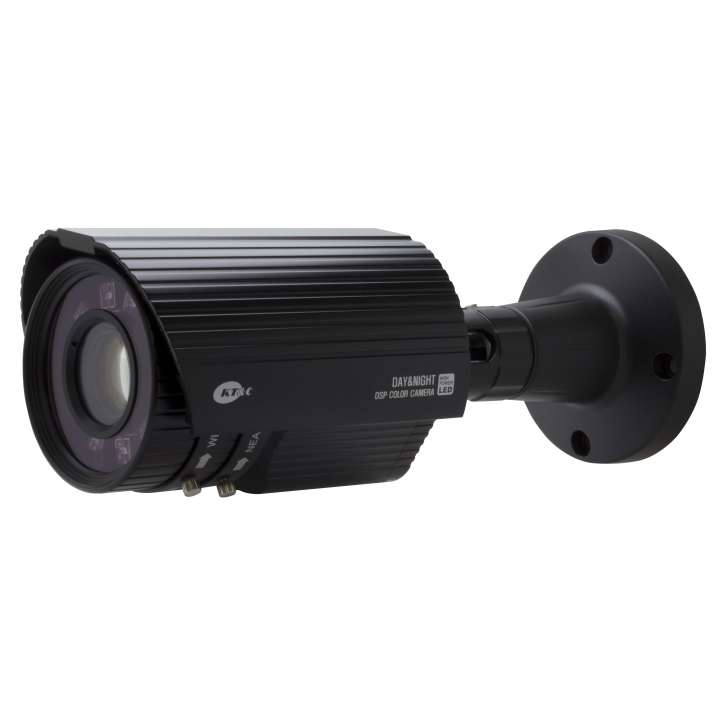 KPC-N751NUB KT&C 750TVL, 5~50mm Auto iris Lens,Dual Power, Cable-thru Bracket, IP67, 10 High Power LED's max 200ft, Built-in heater operates to -40 F, Black body