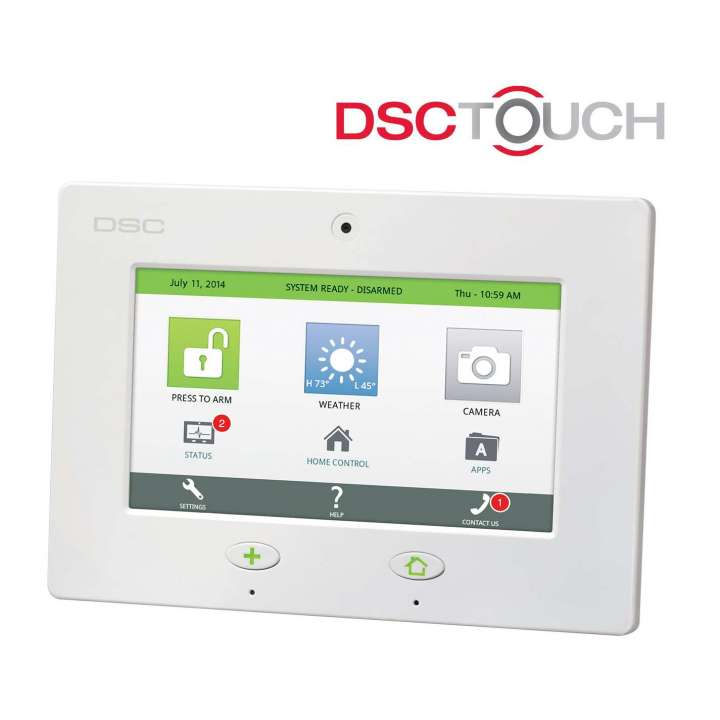 """DSCSCW467VZ DSC Touch SCW9067 standalone unit. Includes built-in 7"""" LCD touch screen and integrated cellular communicator with Verizon SIM. ************************** CLEARANCE ITEM- NO RETURNS *****ALL SALES FINAL****** **************************"""