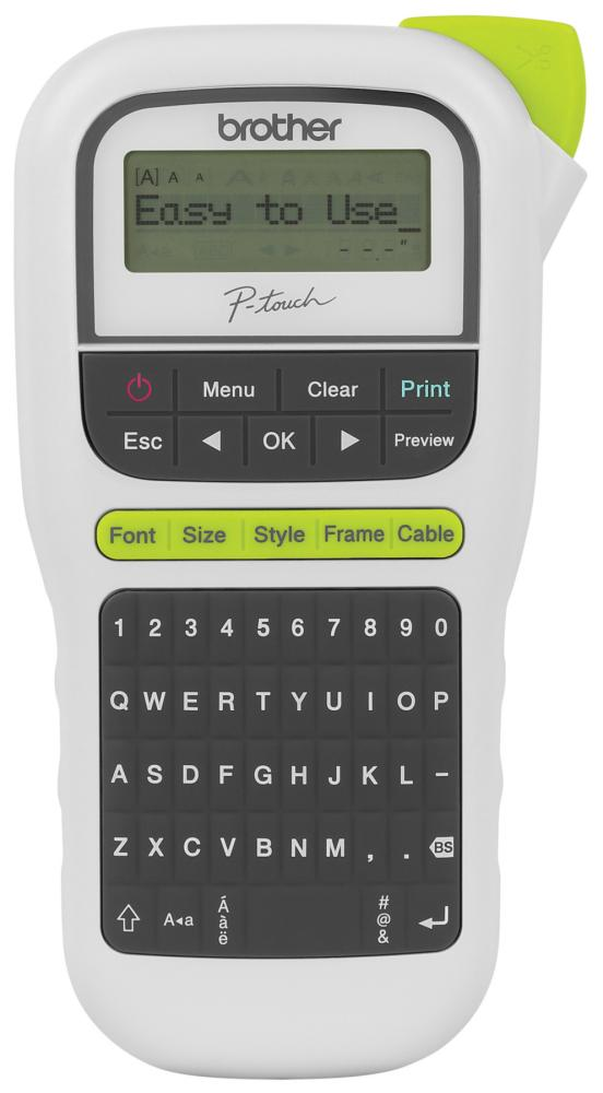 Brt Pth110 Brother P Touch Handheld Labeler One Touch Keys 3 Fonts