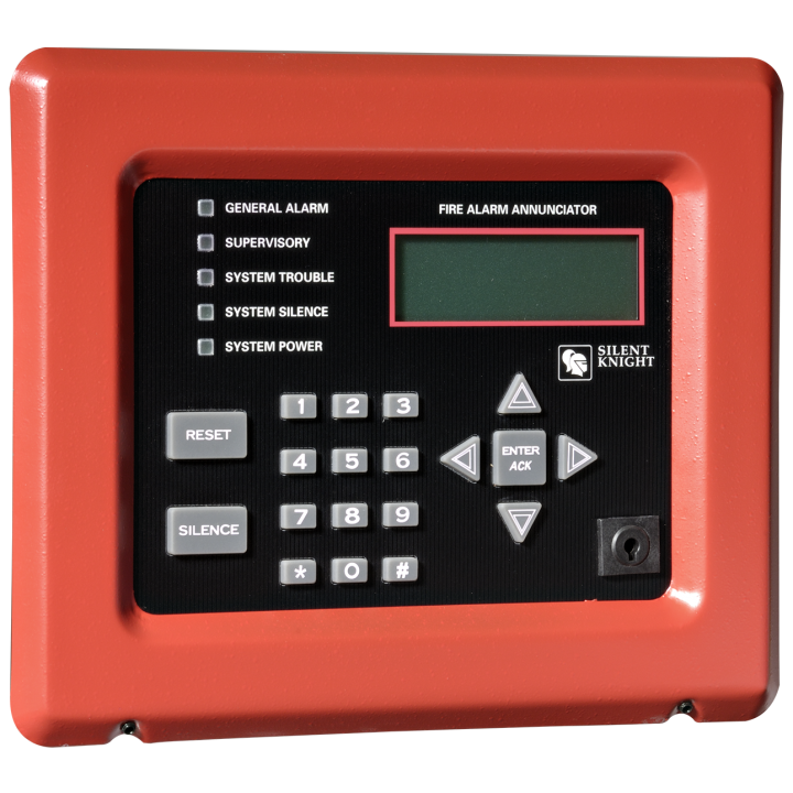 5860R SILENT KNIGHT INTELLIKNIGHT REMOTE ANNUNCIATOR 80 CHARACTER LCD DISPLAY BLACK W/ RED FRAME