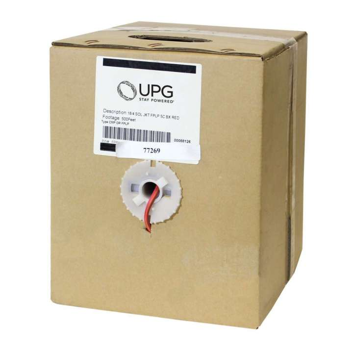 UFP1804S-2B5 UPG 18/4 FIRE PLENUM 500FT RED BOX #77097