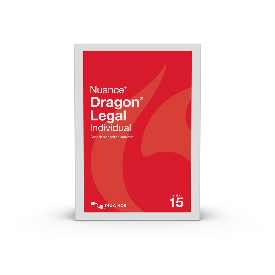 NUA-A588A-RD1-15.0 Dragon Legal Individual 15, English, Upgrade from Professional 13 or DPI 14, Brown Bag,
