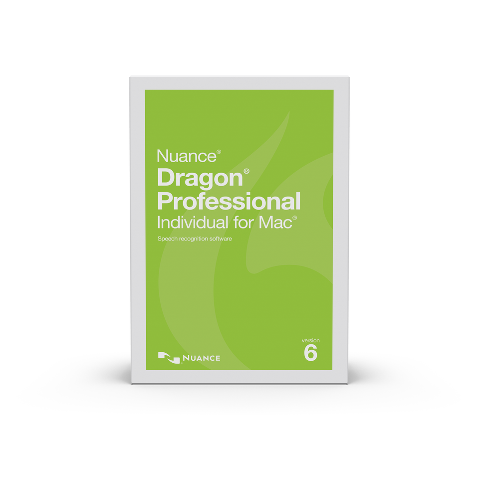 NUA-S601A-G00-6.0 DRAGON PROFESSIONAL INDIVIDUAL FOR MAC 6.0 ,US ENGLISH