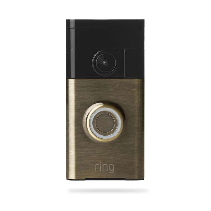 88RG003FC100 RING VIDEO DOORBELL ANTIQUE BRASS ************************** CLEARANCE ITEM- NO RETURNS *****ALL SALES FINAL****** **************************