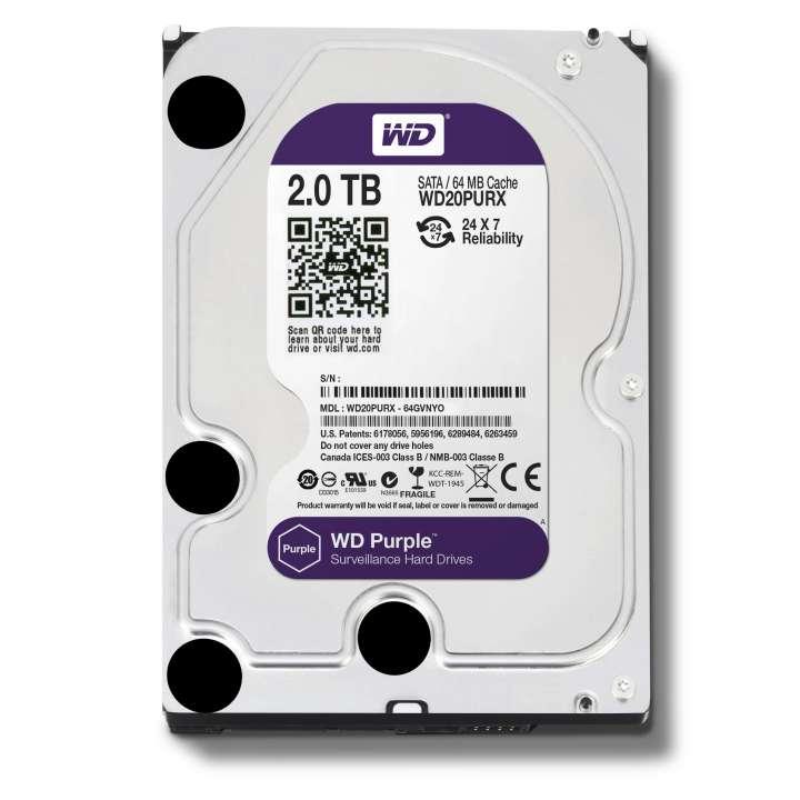 WD20PURX HDSTOR WESTERN DIGITAL 2TB AV GRADE HDD