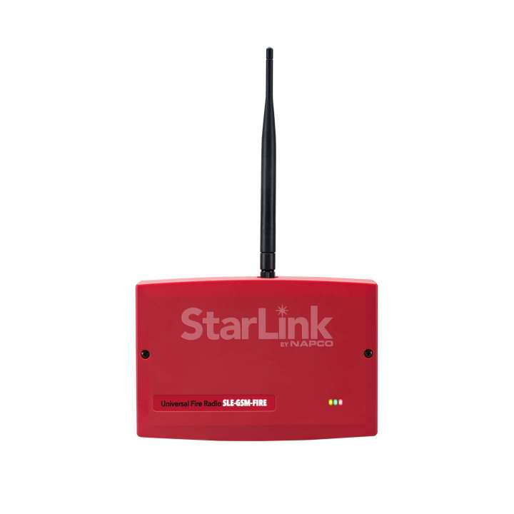 SLE-GSM-FIRE NAPCO Commercial Fire/Burg GSM Alarm Communicator Red Plastic Enclosure Agency Compliance: UL985 Household Fire Warning System, UL1023 Standard For Household Burglar-Alarm, UL864 9th Edition Control Units For Fire Alarm Systems, UL1610 Standard For Central-station Burglar-Alarm Units Powered by Control Panel