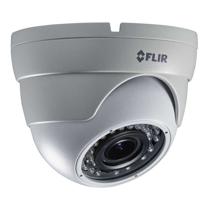 C234EC FLIR MPX VF Eyeball Dome, 1.3MP/960H Dual Output, WDR, OSD, 2.8-12mm, IR LED's, 12/24V