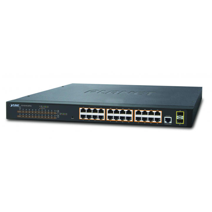 GS-4210-24P2S PLANET MANAGED 24 PORT POE SWITCH ************************** CLEARANCE ITEM- NO RETURNS *****ALL SALES FINAL****** **************************