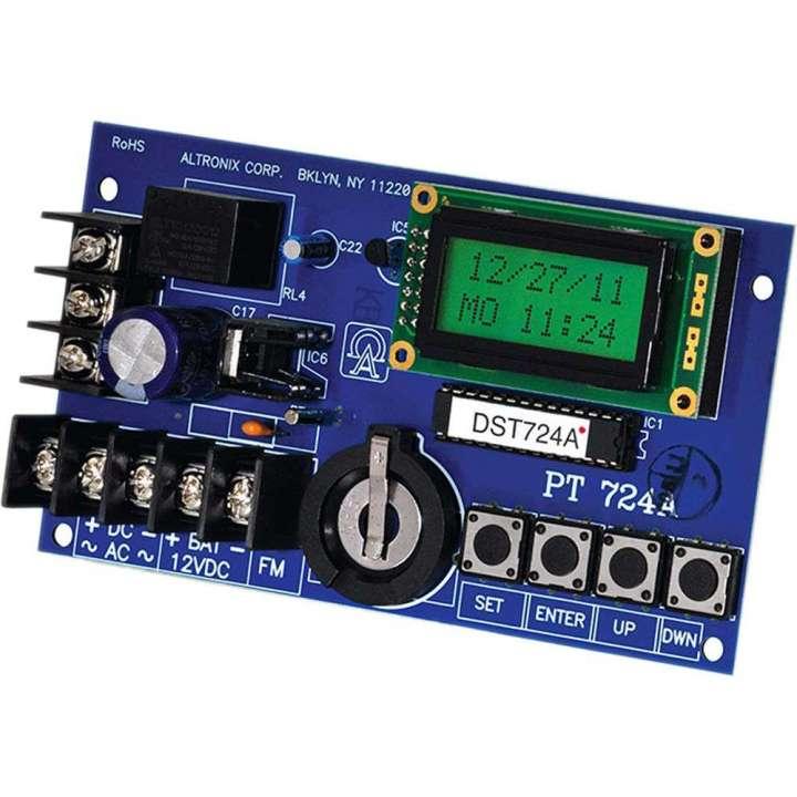 "PT724A ALTRONIX DIGITAL SEVEN DAY/24 HOUR EVENT TIMER 12/24VDC FORM ""C"" RELAY CONTACTS (120VAC/28VDC)"