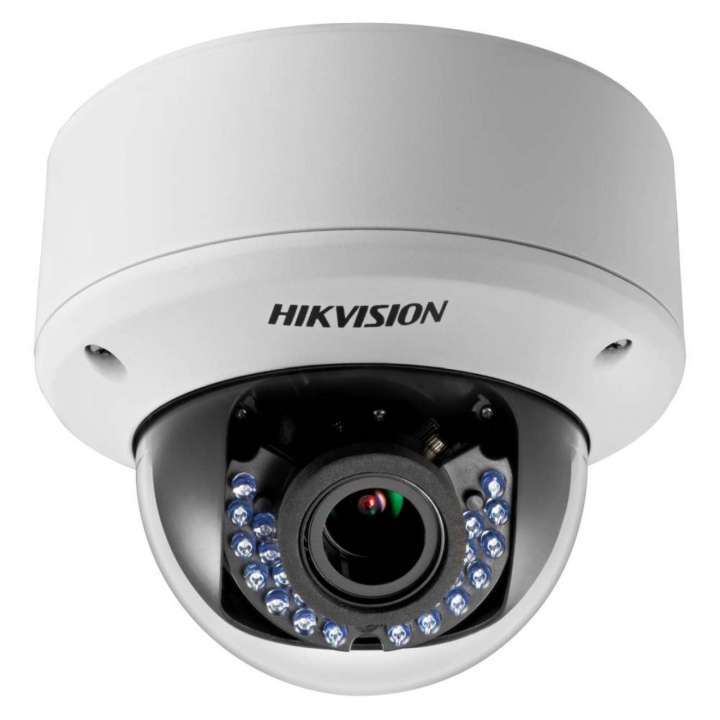 DS-2CE56D5T-AVPIR3ZH HIKVISION Outdoor IR Dome, HD1080p, 2.8-12mm Motorized Zoom/Focus, 40m IR Day/Night, True WDR, Smart IR, UTC Menu, IP66, Heater, 24VAC/12VDC