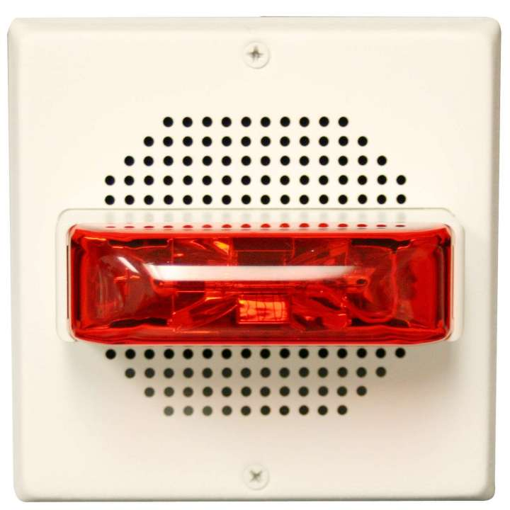 WHE70-R WHEELOCK SQUARE WALL MOUNT SPEAKER ONLY 25/70W RED ************************** CLEARANCE ITEM- NO RETURNS *****ALL SALES FINAL******* **************************