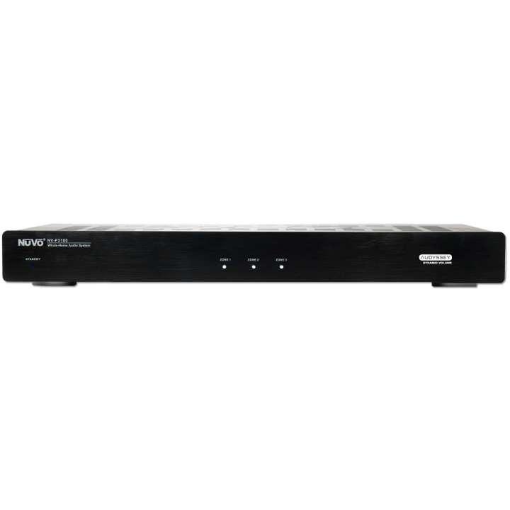 NV-P3100-NA NUVO PROFFESSIONAL GRADE 3 ZONE STEREO AMP 40 WATT PER ZONE , ZONE TO ZONE ACCESS TO NETWORK