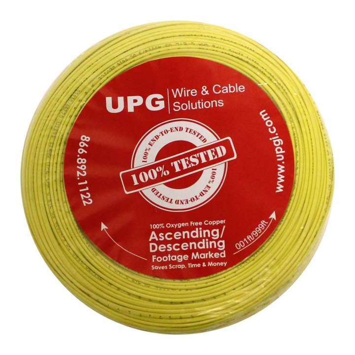 "U2202-4C5 UPG 22/2 conductor (7/30) Jacketed ""UL NEC 800 or ETL listed"" Type CM or CL2, Yellow Jacket, 500' COIL PACK ************************* SPECIAL ORDER ITEM NO RETURNS OR SUBJECT TO RESTOCK FEE *************************"