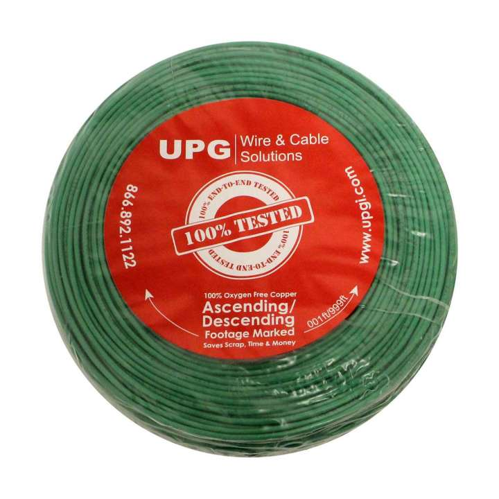 "U2204S-5C5 UPG 22/4 conductor solid jacket ""UL NEC 800 or ETL listed"" Type CM or CL2, Green Jacket, 500' COIL PACK ************************* SPECIAL ORDER ITEM NO RETURNS OR SUBJECT TO RESTOCK FEE *************************"