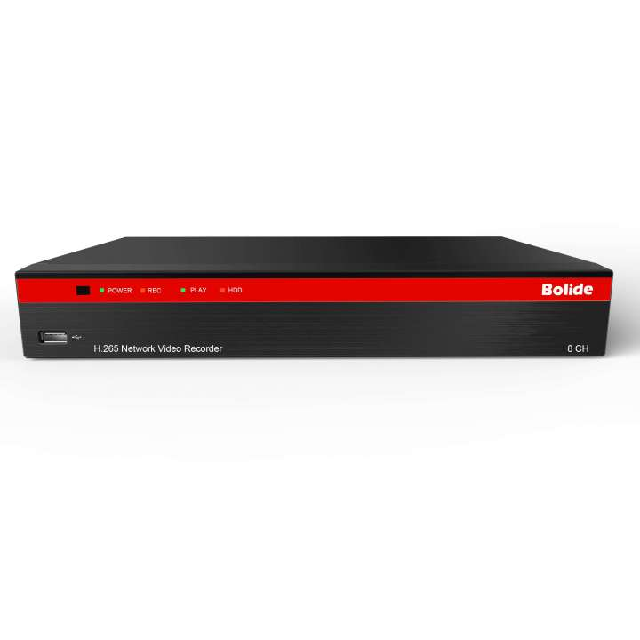 BN-NVR/8NX/4TB BOLIDE H.265 Compression NVR, Supports up to 4K Resolution, Built-in POE, with Quick Connect.8-Channel NVR with 8-port Built-In POE ************************* SPECIAL ORDER ITEM NO RETURNS OR SUBJECT TO RESTOCK FEE *************************