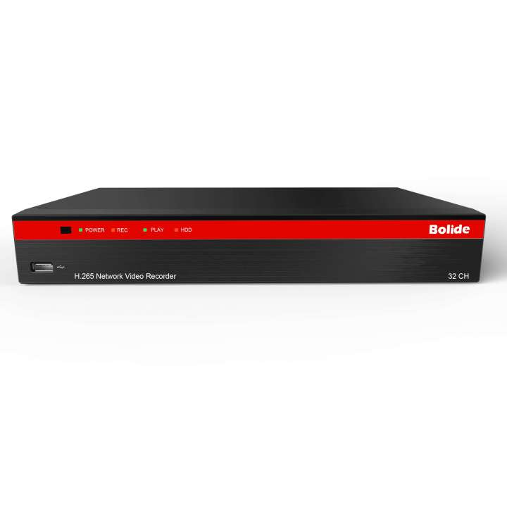 BN-NVR/32NX/8TB BOLIDE H.265 Compression NVR, Supports up to 4K Resolution, Built-in POE, with Quick Connect. 32-Channel NVR with 16-port Built-In POE ************************* SPECIAL ORDER ITEM NO RETURNS OR SUBJECT TO RESTOCK FEE *************************
