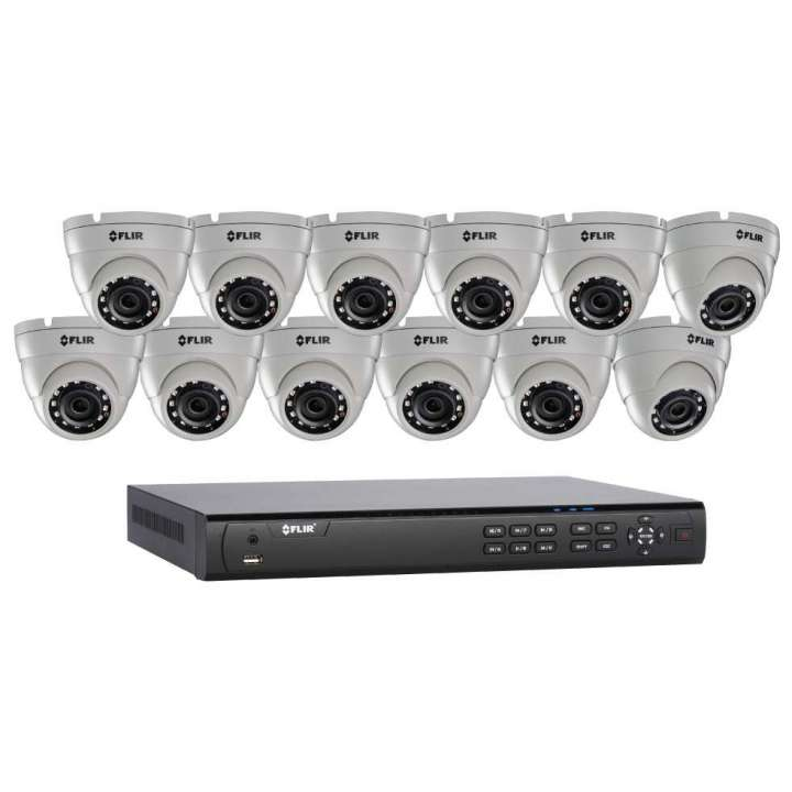 DN4163E12 FLIR 16 Ch NVR with 16 POE, 480fps@1080p, 3TB HDD with 12 x 4.0MP mini eyeball dome, 3.6mm, Cloud connectivity ************************** CLEARANCE ITEM- NO RETURNS *****ALL SALES FINAL****** **************************