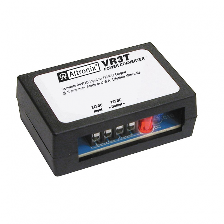 VR3T ALTRONIX Power Conversion Module - Converts 24VDC input into 12VDC rated @ 2 amp, screw terminals. High impact insulated housing. ************************* SPECIAL ORDER ITEM NO RETURNS OR SUBJECT TO RESTOCK FEE *************************