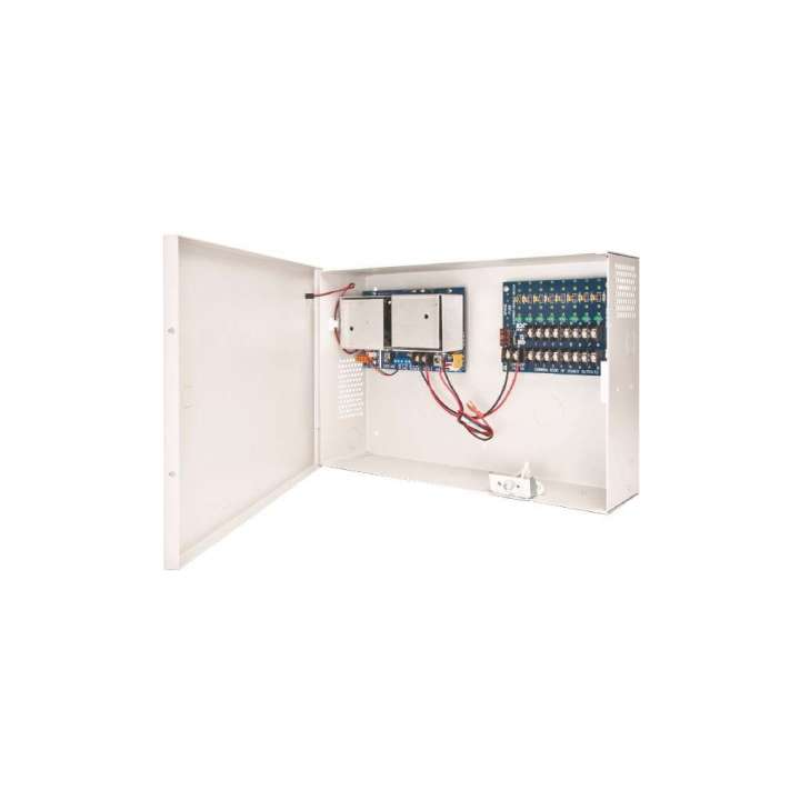 AQD5-8C1R SECURITRON ACCUPOWER 3 TO 5 AMP POWER SUPPLY WITH 1 RELAY AND 8 PTC OUTPUTS