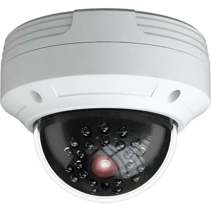PAR-P3DRIR28 INVID 3 Megapixel IP Plug & Play Outdoor Rugged Dome, 2.8mm, 65' IR Range, CVBS Output, PoE/DC12V