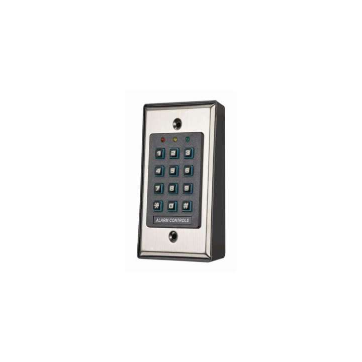 KP-100 ALARM CONTROLS SELF CONTAINED DIGITAL KEYPAD 100 USER CODES BACKLIT SPDT RELAY 5A CONTACTS TAMPER BUZZER INDOOR ************************* SPECIAL ORDER ITEM NO RETURNS OR SUBJECT TO RESTOCK FEE *************************