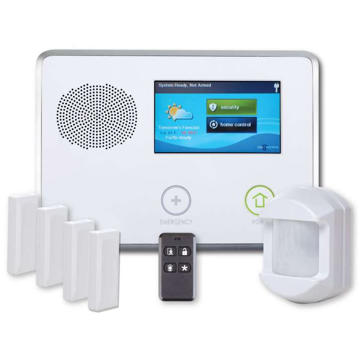 2GIG-GCKIT410 2GIG Go!Control 4-1-0 Kit: includes 1 panel, 4 door/window contacts, 1 motion