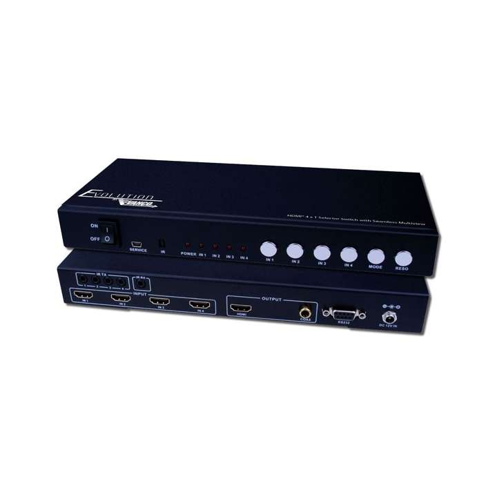 EVSW1040 VANCO HDMI 4x1 Multiview 1080p w/Seamless Switching, Audio Breakout, RS232 ************************* SPECIAL ORDER ITEM NO RETURNS OR SUBJECT TO RESTOCK FEE *************************