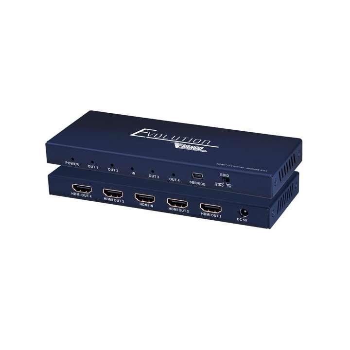 EVSP4K14 VANCO Slim HDMI 1x4 4K Splitter 4K (HDMI 2.0, HDCP 2.2)