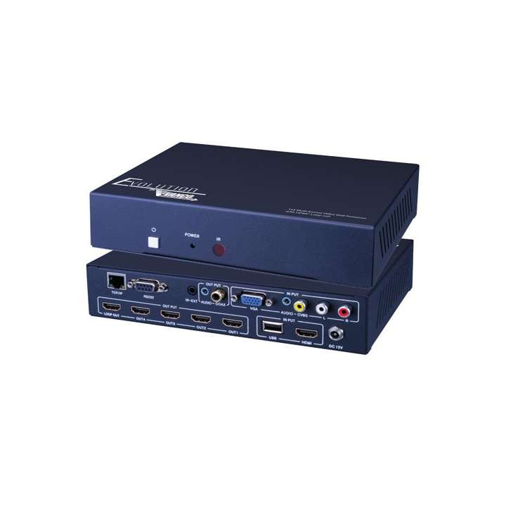 EVSP14VW VANCO 1x4 Multi-Format Video Wall Processor with HDMI Loop Out 1080p/60Hz ************************* SPECIAL ORDER ITEM NO RETURNS OR SUBJECT TO RESTOCK FEE *************************
