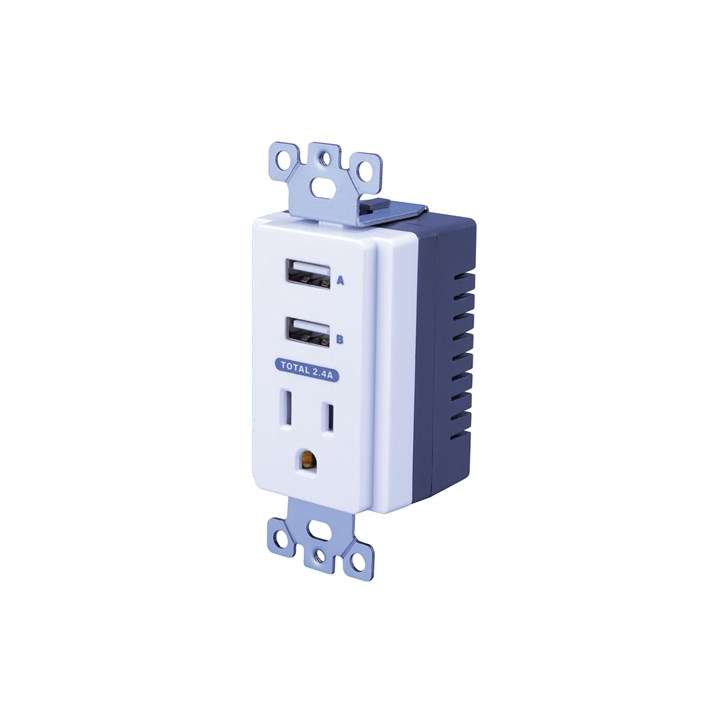 USBWO5V VANCO Dual USB In-Wall Charger ************************* SPECIAL ORDER ITEM NO RETURNS OR SUBJECT TO RESTOCK FEE *************************