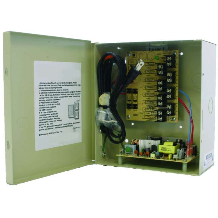 IPS-DCR8-3.5-2UL INVID Master Power Supply: Regulated 12VDC, 8 Ch., 4 AMPs, PTC