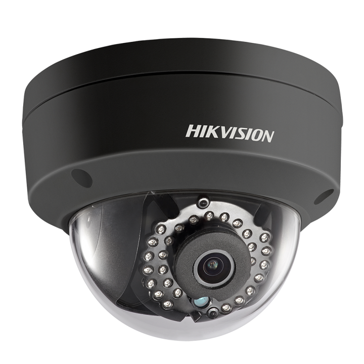 DS-2CD2142FWD-ISB2.8mm HIKVISION Outdoor Dome, 4MP-20fps/1080p, H264, 2.8mm, Day/Night, 120dB WDR, IR (30m), 3-Axis, Alarm I/o, Audio I/O, uSD, IP66, PoE/12VDC, Black Finish